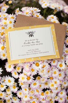 honey bee bridal shower invite