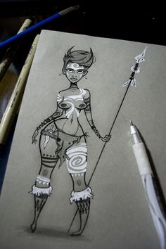 Tutorial on drawing || CHARACTER DESIGN REFERENCES | Tim Crecelius
