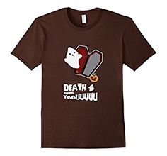 Death Awaits You Ghost In Coffin Pumpkin Scary Costume Shirt - Get yours here: http://amzn.to/2fe4p2h #halloween #halloweenshirt #halloweentshirt #Halloweenfestival #holiday