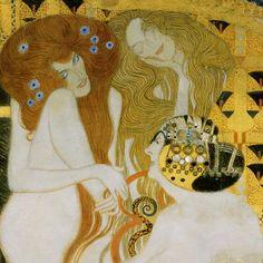 Unchaste, Lust and Gluttony, Gustav Klimt. Austrian (1862-1918)