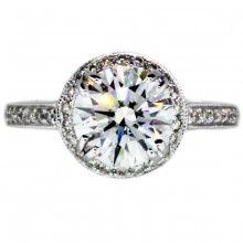 2 Ct Round Diamond Engagement Ring In a Halo Setting