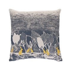 Orwell and Goode - Night Woods: Yellow Hares Cushion - 18inch