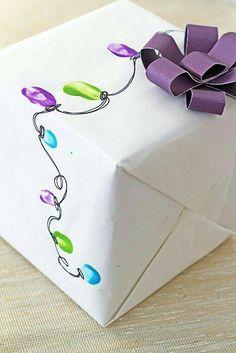Fingerprint Diy wrapping paper!