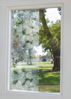 "Decorative Window Film Free Window Film Samples Window films for your needs. - White Leaf Decorative Window Film 50""(W), $13.30 (http://www.buydecorativefilm.com/white-leaf-decorative-window-film-50-w/)"