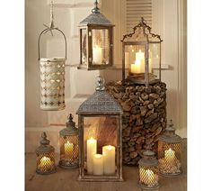 There is a trend for decorating with lanterns that you don't want to miss out on. Lanterns add character to a room and can be used with candles. Lantern Lamp, Metal Lanterns, Lanterns Decor, Candle Lanterns, Candle Sconces, Fall Lanterns, Rustic Lanterns, Moroccan Lanterns, Christmas Lanterns