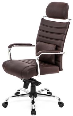 4 Series High Back Chair W/Headrest in Brown, 4H-CE-CH by At the Office   BizChair.com