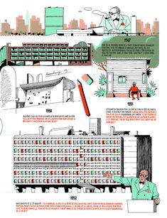 Infográfico da vida de Le Corbusier por Vincent Mahé,Cortesia de Vincent Mahé