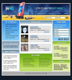 Portal Music Website Templates by Maxwell