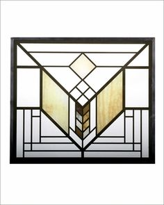 Frank Lloyd Wright Lake Geneva Tulip Stained Glass #franklloydwright
