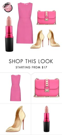 """""""Untitled #1"""" by la-m0da ❤ liked on Polyvore featuring Diane Von Furstenberg, Valentino, Christian Louboutin and MAC Cosmetics"""