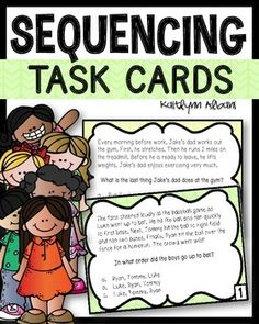 Sequencing task cards for reading comprehension practice