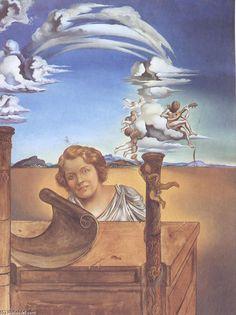 """Melancholie"", 1942 von Salvador Dali (1904-1989, Spain)"