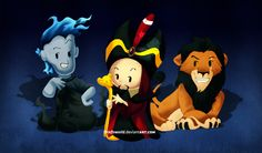 Villain Babies (Hades, Jafar and Scar)