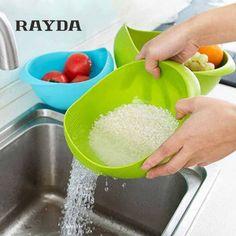 Günstige RAYDA 2 Größen Multifunktionale Waschen Siebkorb Kunststoff Obst Gemüse Küche Gadgets Werkzeuge Reis Nützliche Bequeme, Kaufe Qualität   direkt vom China-Lieferanten: RAYDA 2 Größen Multifunktionale Waschen Siebkorb Kunststoff Obst Gemüse Küche Gadgets Werkzeuge Reis Nützliche Bequeme