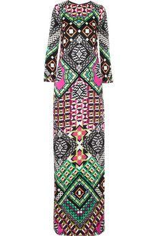 Temperley London Miri printed silk gown | THE OUTNET