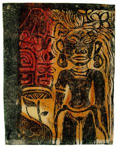 Paul Gauguin, Tahitian Idol. 1894-95. Woodcut. (Private collection, USA)