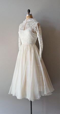 1940s wedding dress / lace 40s dress / by DearGolden, $356.00