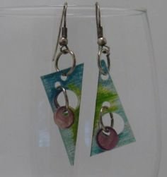 Earrings triangles and holes by artsybaaabs on Etsy, $15.00