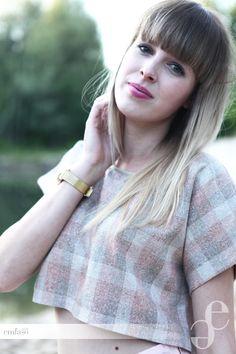 spring wool blouse by Emilia Sikorska www.emfaso.com