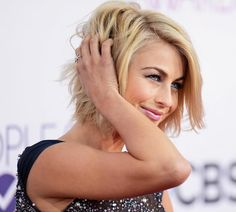 julianne hough short haircut back view | Julianne Hough's Galaxy Sequined Dress People's Choice Awards 2013 ...