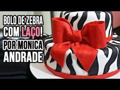 Passo a passo: Bolo de Zebra com Laço! Por Mônica Andrade - YouTube