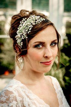 WEDDING haircomb, Bridal hair comb, JARDINE , rhinestone bridal headpiece, vintage OOAK