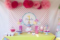 Pinwheels and Polka Dots 1st Birthday Party with Full of Adorable Ideas via Kara's Party Ideas | KarasPartyIdeas.com #LittleGirl #Party #Ide...