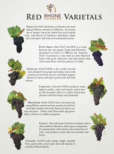 Rhone Red Varietals  wine / vinho / vino mxm