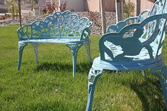 how to repaint iron furniture