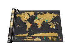 SCRATCH MAP ORIGINAL DELUXE Rubbel die Teile der Weltkarte frei, die du hervorheben möchtest. Zeige deinen Freunden, wo du schon warst oder wo du noch hin möchtest. Die Deluxe-Ausführung ist detaillierter und – falls überhaupt möglich – noch stylischer als die Vorgängerversion! - coolstuff.de
