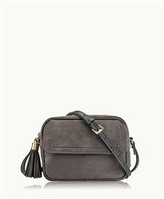 GiGi New York Madison Crossbody, Charcoal French Nubuck Leather Small Messenger Bag, Outerwear Women, Purses And Handbags, Fashion Backpack, Charcoal, New York, French, Classic, Leather