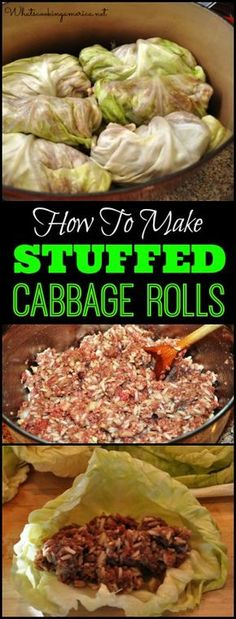Stuffed Cabbage Roll Recipe Stuffed Cabbage Roll Recipe,Foodie Recipes How To Make Stuffed Cabbage Rolls Recipe Cabbage Recipes, Meat Recipes, Cooker Recipes, Dinner Recipes, Healthy Recipes, Pastry Recipes, Best Cabbage Rolls Recipe, Popcorn Recipes, Gastronomia
