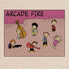 Arcade Fire as Peanuts! Love.  These guys are my favorite.