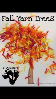 Autumn wool tree