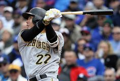 Jungho Kang Photos - Jung Ho Kang of the Pittsburgh Pirates hits a run scoring single in the inning against the Chicago Cubs at Wrigley Field on May 2016 in Chicago, Illinois. - Pittsburgh Pirates v Chicago Cubs Double Play, Pittsburgh Pirates, Chicago Cubs, Baseball, People, People Illustration, Folk