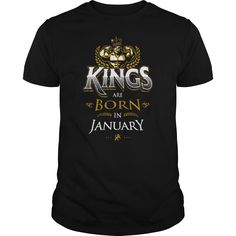 Kings Are Born in January Shirt Birthday Gifts for Men Boys.