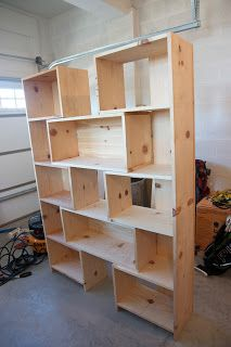 Simply Weekends: Knock-off Crate and Barrel Bookcase - Done!