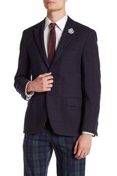 Logan Textured Plaid Slim Fit Sport Coat