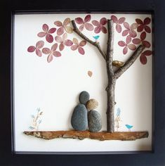 Unique WEDDING Gift- Engagement Gift - Retirement Gift - Gift For Family of Four- Christmas Gift - Pebble Art by MedhaRode on Etsy