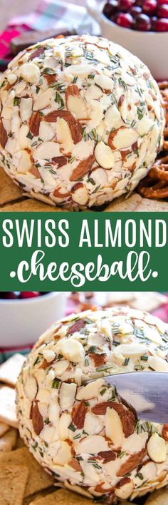 This Swiss Almond Cheeseball makes the PERFECT holiday appetizer! Because no holiday celebration is complete without a cheeseball....(am I right?)....and this Swiss Almond combo is to die for! If you've never tried it, now is the perfect time to try it and fall in love. All you need is a handful of ingredients, a few minutes of mixing, and some time to chill....and you have yourself a new party appetizer that's guaranteed to become a fast favorite!