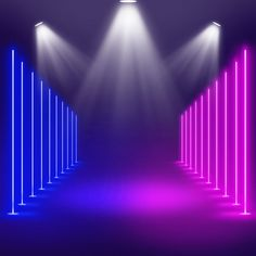 Neon Stage Lights And Spotlights Background Iphone Background Images, Light Background Images, Background Design Vector, New Backgrounds, Lights Background, Stage Spotlights, Stage Lighting, Wallpaper Ramadhan, Dj Images