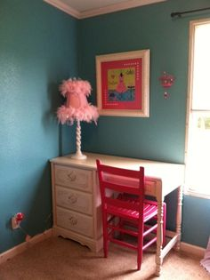 Small Moments Big Joy:  Girls Room in Turquoise and Hot Pink