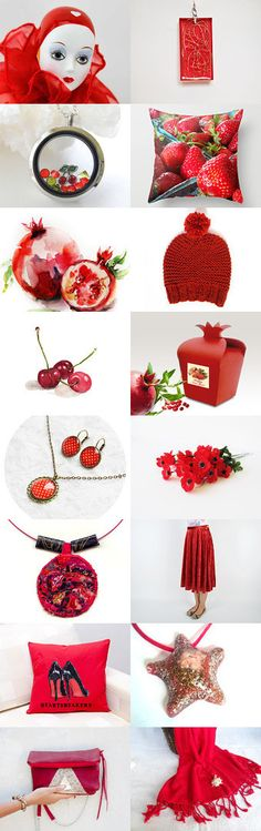 Christmas gifts for everyone - Winter Strawberries by Inese on Etsy--Pinned with TreasuryPin.com