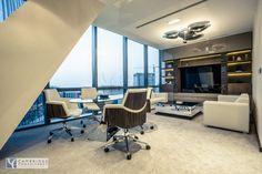 HILLS designed and executed by Cambridge Consultancy Dubai (CEO office with ARTEMIDE lighting ).