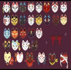 – Kitsune mask illustrations - To Have a Nice Day Mask Drawing, Drawing Base, Dress Drawing, Art Reference Poses, Drawing Reference, Anime Kunst, Anime Art, Kitsune Mask, Masks Art