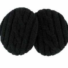 Black Cable Knit Earbags  Now in beautiful cable knit, our patented cozy fit…