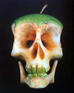 Doodshoofd van een appel