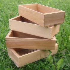 Rustic Wood Seed Starting Trays, 6 x 12, Medium, Pack of Four Small Wooden Trays. $47.00, via Etsy.