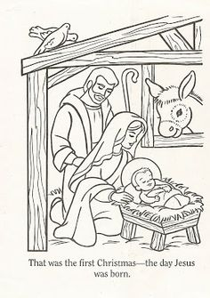 LDS Nursery Color Pages: Christmas Lesson