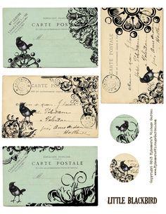 Free Printable - Little Blackbird Tags